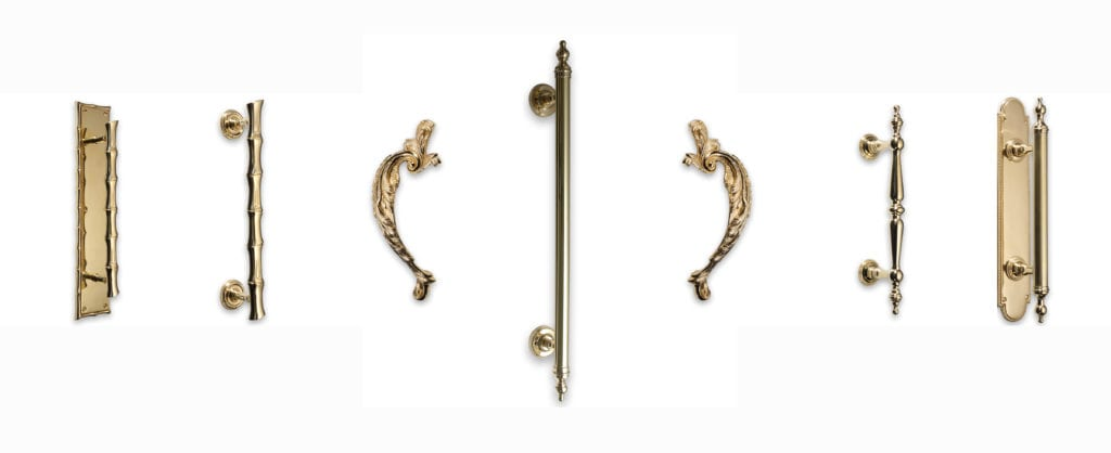 BrassArt traditional collection solid brass pull handles