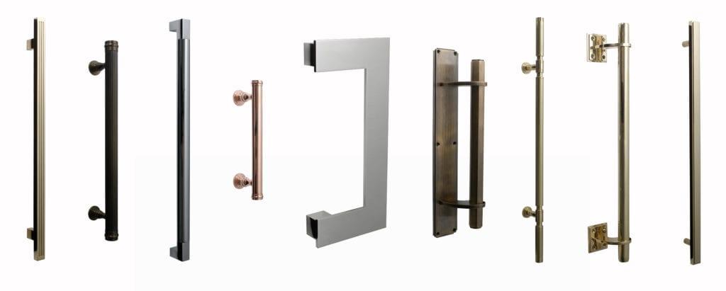 BrassArt modern solid brass pull handles
